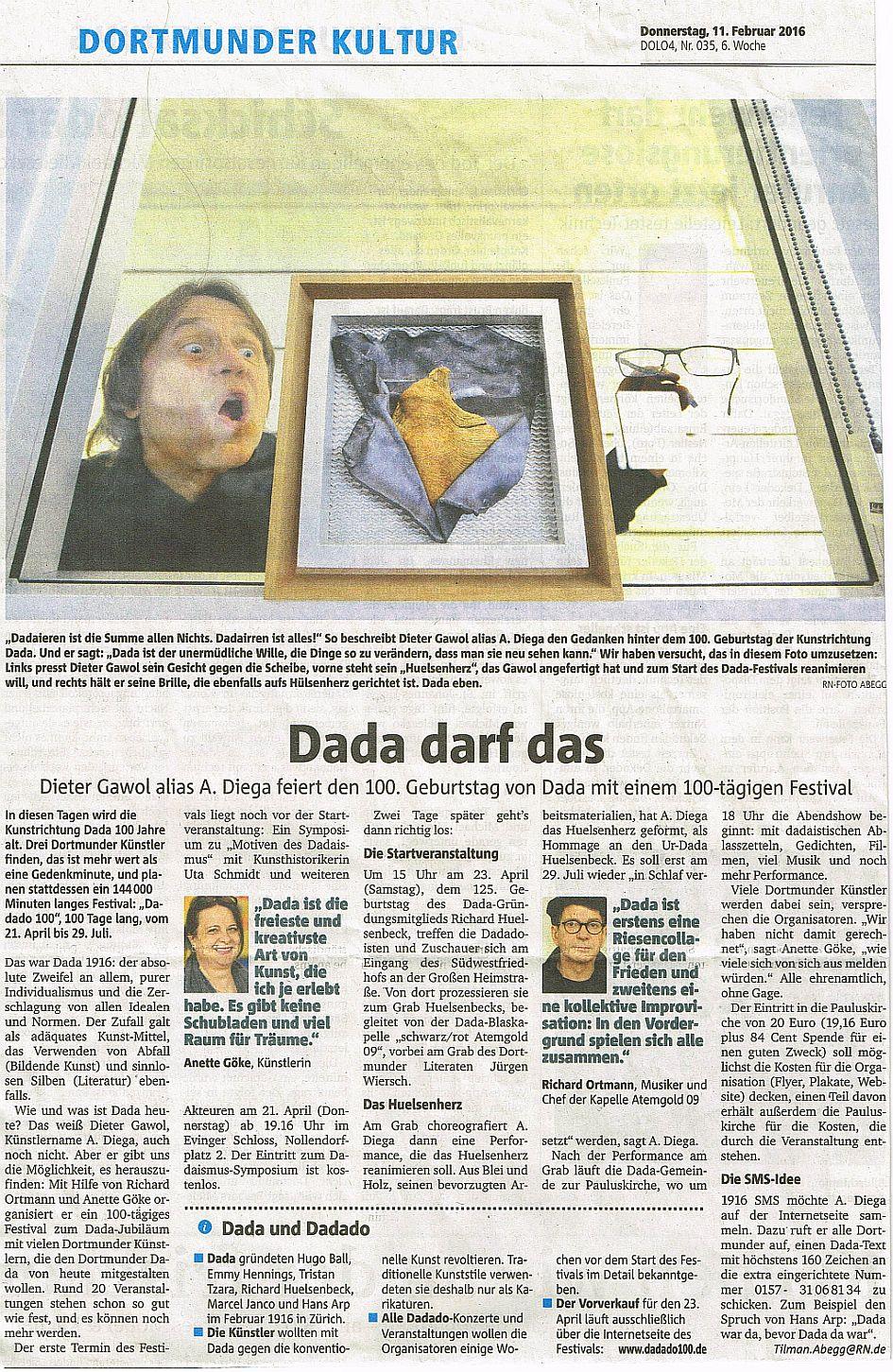 DADA darf das – Dortmunder Ruhrnachrichten vom 11.02.16